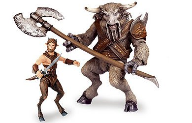 Buy Low Price Jakks Pacific Chronicles of Narnia Prince Caspian Basic Figure 2Pack Faun Mentius & Minotaur Asterius (B0013KA94S)