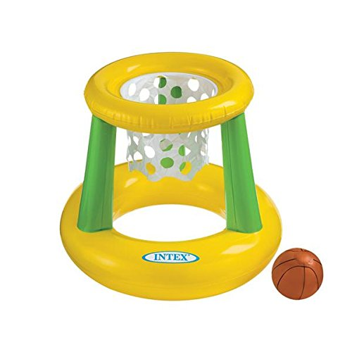 Intex - Floating Hoops 3,Incl Inflatable Pool Hoop & Basketball,Repair Patch - 1