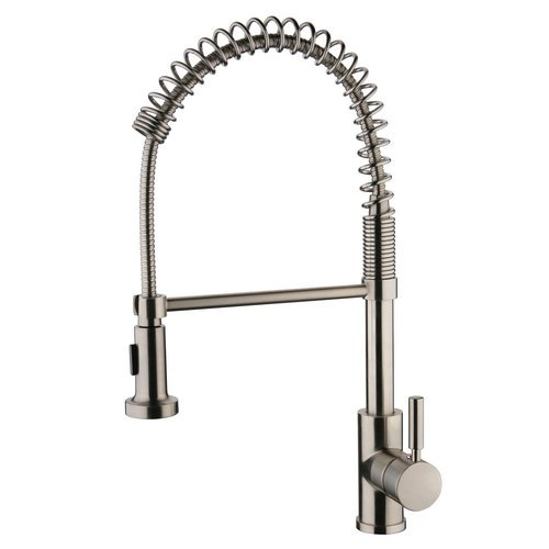 Miseno MK281 Cardini Commercial Style Pre-Rinse Kitchen Faucet, Stainless Steel