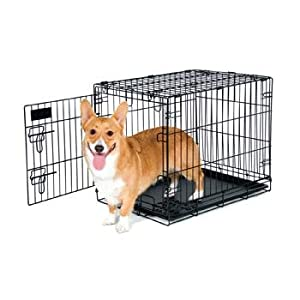Petmate 24-Inch Training Retreats Wire Kennel for Dogs, 25 to 30-Pound
