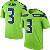 Russell Wilson Seattle Seahawks Mens Color Rush Jersey Green XXL