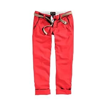 Surplus Raw VintageHose Loose Fit Chino Pantalon occasionnel Pants, Size: M, Colour: Rouge