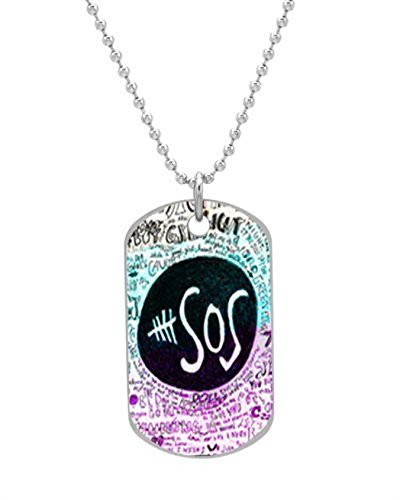 5-second-of-summer-lyric-dog-tag-custom-photo-dimensions-12-x-2-x-01-inches-with-30-aluminum-bead-ch