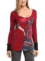 Desigual Camiseta Manga Larga Alicia (Rojo)