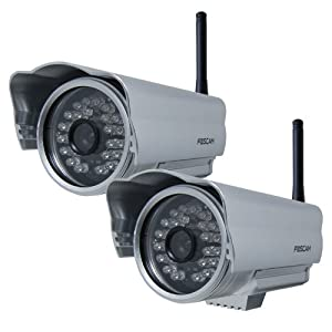 Foscam FI8904W Outdoor Wireless/Wired IP Camera with - 2 Pack
