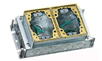 hubbell floor boxes b2422 by hubbell wiring systems b2422 stamped steel 2 gang shallow
