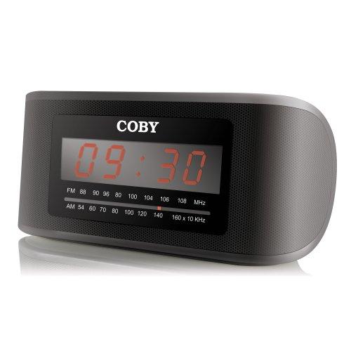 Coby CRA50BLK Digital AM/FM Alarm/Clock Radio, Black