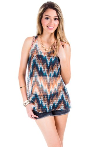 Loose Knit Tank Shell in Multicolour