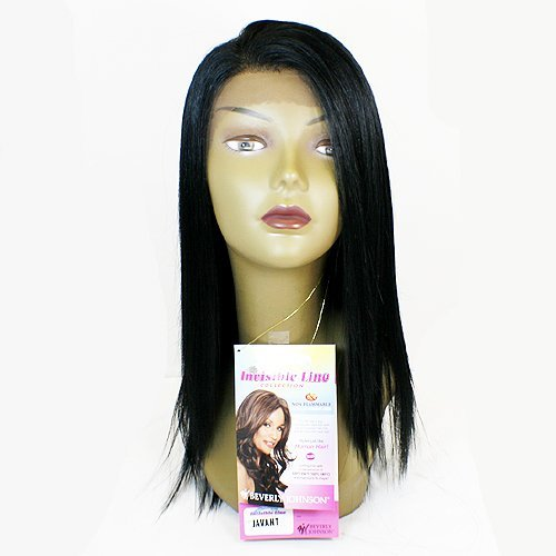 Beverly Johnson Lace Front Synthetic Wig-Javant-Color#1B-Off Black front-650214