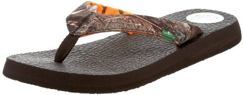Sanuk Women's Yoga Mat Mossy Oak Flip-Flop,Duck Blind,7 M US