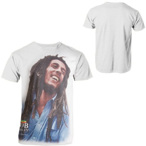 Billabong Men's Legend Bob Marley Shirt White-2XL