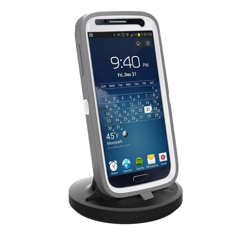 Rnd Dock For Samsung Galaxy S2 S3 S4 Or S4 Active With Dock Mode Cable And 2.1A Charger (Compatible Without Or With Rugged Dual Layer And Slim Cases Including Otterboxes) (Black)
