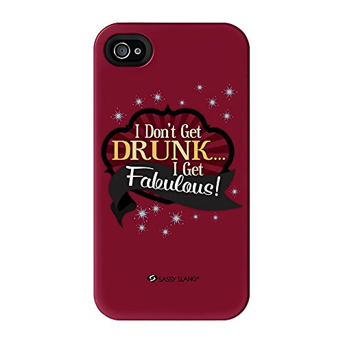Sassy - I Don'T Get Drunk #10825 Full Wrap High Quality 3D Printed Case, Snap-On Cover For Iphone 4 / 4S By Sassy Slang
