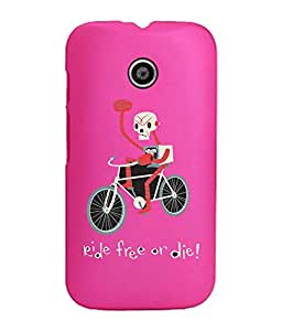 KolorEdge Back Cover For Motorola Moto E (2nd Gen) - Pink (1260-Ke15101MotoE2Pink3D)