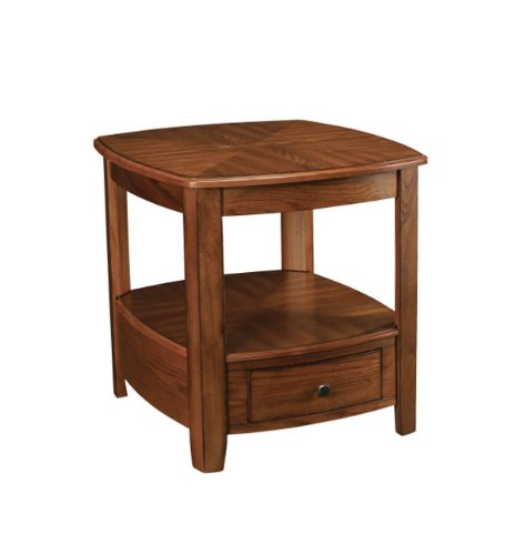 Cheap Hammary Primo Rectangular Drawer End Table in Brown (T20069-T2006921-00)