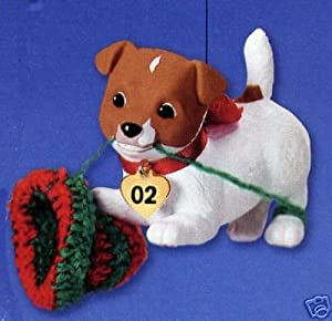Puppy Love Jack Russell Terrier Dog 2002 hallmark ornament