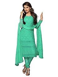Isha Enterprise Women's Chiffon Dress Material(KFD400-1754_Green)