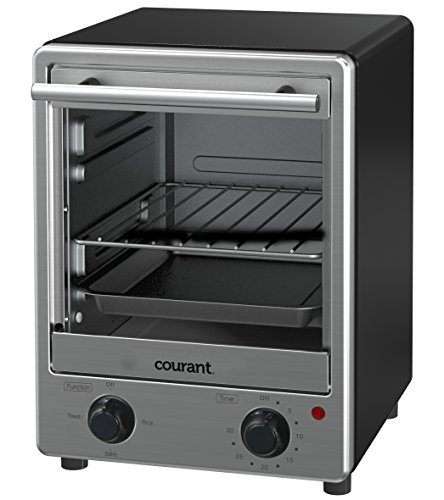Courant TO-1235 Toastower Toaster Oven with Stainless Steel Front, Black (Small Space Toaster Oven compare prices)