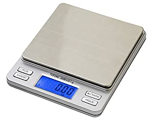 Smart Weigh Digital Pro Pocket Scale with Back-lit LCD Display, Hold Feature and 2000 x 0.1g Capacity