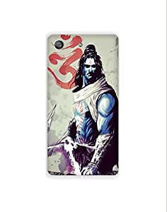 Sony Xperia M5 nkt-04 (14) Mobile Case by Mott2 - Om Shiva - God (Limited Time Offers,Please Check the Details Below)