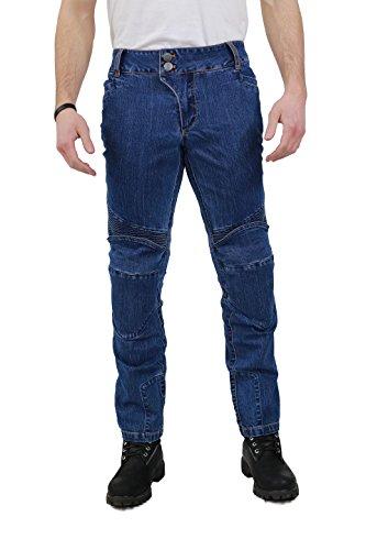 Nerve 22140116_05 Pantaloni Moto Ranger Jeans, Blu, XL