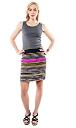 iamme Multicoloured Embellished short skirt