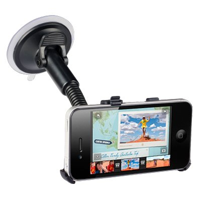 IPHONE 4 / IPHONE 4S WINDSCREEN MOUNTED CAR HOLDER PART OF THE QUBITS ACCESSORIES RANGE