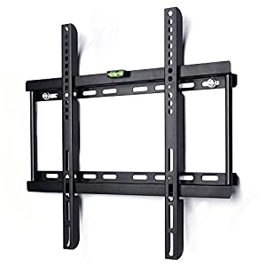 "Ultra Slim TV Bracket Wall Mount for 23""-55"" (58cm-140cm) TVs, Max Vesa 400mmx400mm, Super-strong Capacity 95kg (209 lbs), Spirit Level Included"