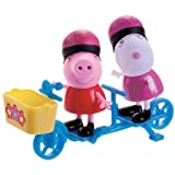 Peppa Pip Peppa and Suzy Sheep Bicycling Figures Pack Peppa and George Ice Cream Time