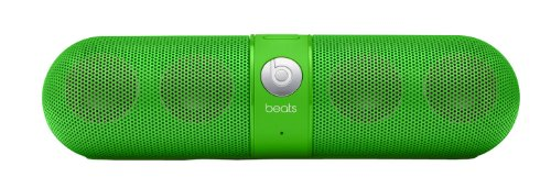 Beats By Dr. Dre Pill Portable Speaker (Neon Green) Bundle With Beats Pill Silicone Sleeve (Black) And Custom Designed Zorro Sounds Cleaning Cloth