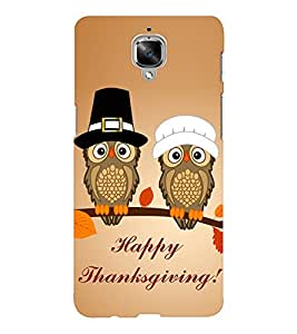 EPICCASE happy thanksgiving Mobile Back Case Cover For OnePlus Three (Designer Case)