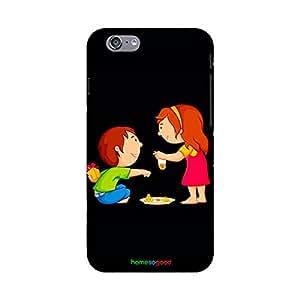 HomeSoGood Happy Rakshabandhan Black Case For iPhone 6 (Back Cover)