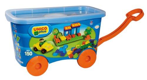 Unico Plus 8519 - Carrito con bloques de construcción (150 piezas)