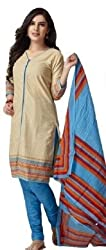 Taos womens pure cotton salwar suits for women New Arrival latest 2016 dress material party wear dresses Unstitched(1217 freesize sky blue)