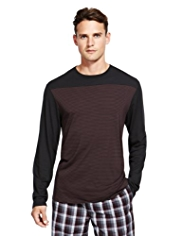 Autograph Feeder Striped Pyjama T-Shirt with Modal