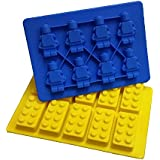 Jollylife Building Bricks and Minifigure Ice Cube Tray or Candy Mold --For Lego Lovers