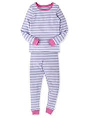 Soft & Cosy Thermal Striped Vest & Leggings Set