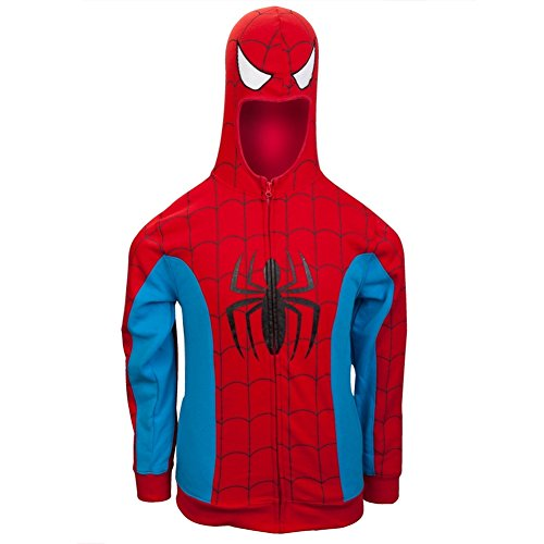 Marvel Spiderman Men's Red Costume Hoody (XX-Large)