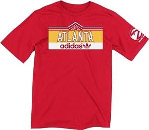 Atlanta Hawks Adidas Vintage NBA Banter Red T-Shirt by adidas