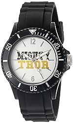 Marvel Thor Mens W002567 Thor Analog Display Analog Quartz Black Watch