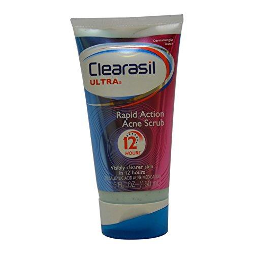 Clearasil Ultra Rapid Action Acne Treatment Face Scrub, 5 Ounce 839977009231   eBay
