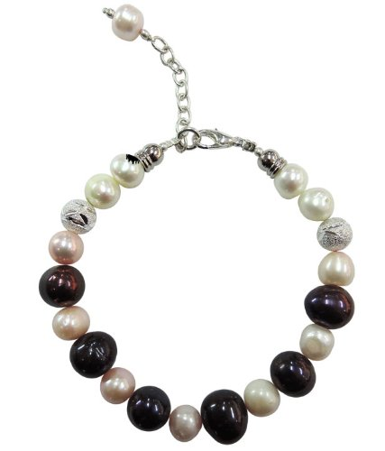 "Pearlz Ocean Bloom 7.5"" Fresh Water Pearl Bracelet"