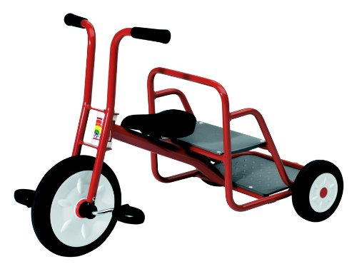 Kid's Red Tricycle w Rear-Facing Passenger Seat - Ages 3 to 6