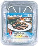 Durable Foil Roaster Baker Pan with Lid 1 Pack (Sold by 1 pack of 12 items)