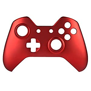 eXtremeRate Custom Design Unique Top Shell Case Front Housing Replacement Faceplate Kits for Xbox One Remote Controller Cover (Soft Touch Red) (Color: Soft Touch Red)
