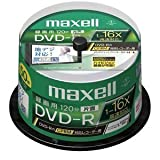 maxell 録画用 CPRM対応 DVD-R 120分 16倍速対応 インクジェットプリンタ対応ホワイト(ワイド印刷) 50枚 スピンドルケース入 DRD120WPC.50SP B ランキングお取り寄せ