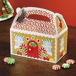 Fun Express Gingerbread House Cardboard Christmas Treat Boxes from Fun Express