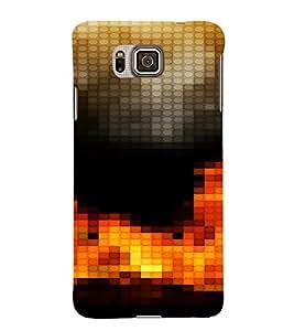PrintVisa Modern Art Fire Design 3D Hard Polycarbonate Designer Back Case Cover for Samsung Galaxy Alpha