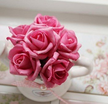 Red Color (A) Artificial Flower Rose Bonsai Home Decoration Gift Decoration Flower Wedding