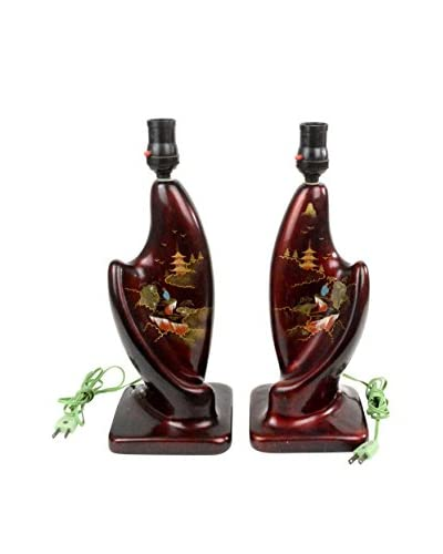 Uptown Down Set of 2 Vintage Chinese Lamps